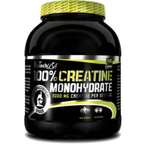 BioTech 100% Creatine Monohydrate (банка) 500 гр