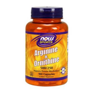 NOW Arginine & Ornithine(100 caps)