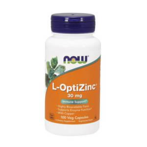 NOW L-OptiZinc 30 mg (100 caps)