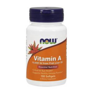 NOW Vitamin A 10,000 IU(100 caps)
