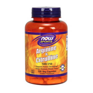 NOW Arginine & Citrulline 500 mg/250 mg (120 caps)