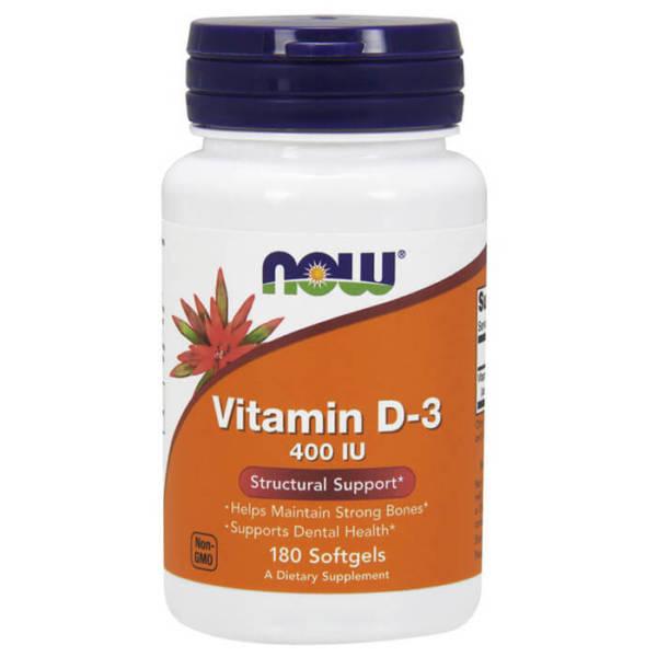 NOW Vitamin D-3 400 IU(180 caps)