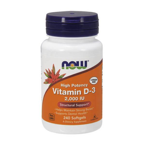 NOW Vitamin D-3 2000 IU (240 caps)