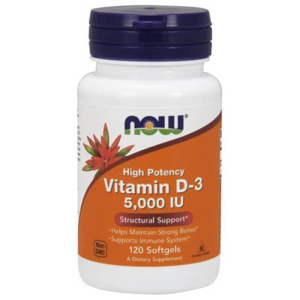 NOW Vitamin D-3 5000 IU (120 caps)