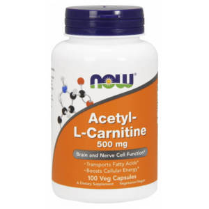 NOW Acetyl-L-Carnitine 500 mg (100 caps)