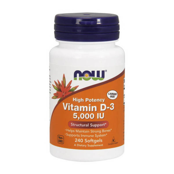 NOW Vitamin D-3 5000 IU (240 caps)