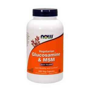 NOW Vegetarian Glucosamine & MSM (240 caps)
