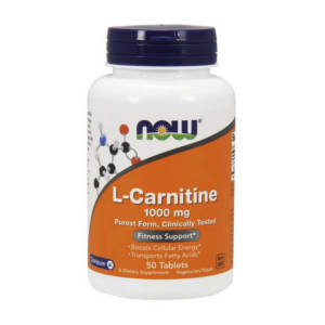 NOW L-Carnitine 1000 mg purest form (50 таб)
