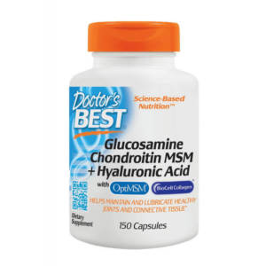 Doctor's BEST Glucosamine Chondroitin MSM + Hyaluronic Acid(150 caps)