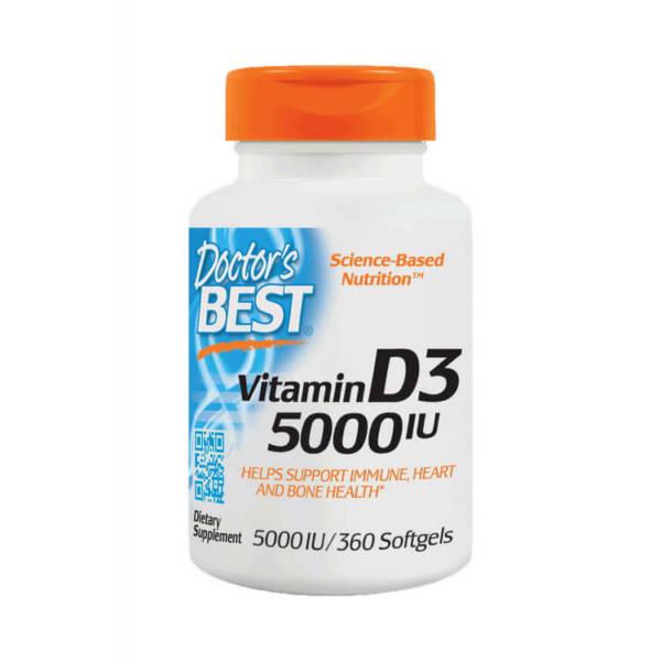 Doctor's BEST Vitamin D3 5000 IU(360 caps)