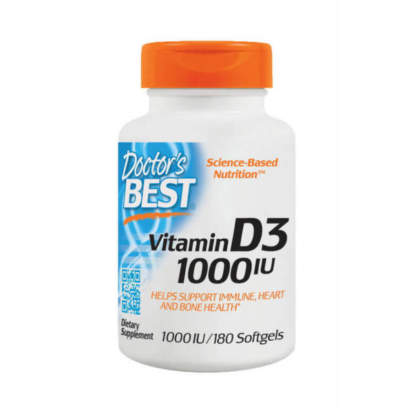 Doctor's BEST	Vitamin D3 1000 IU	(180 caps)